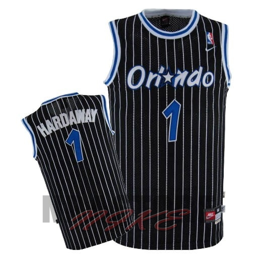Maglia NBA Orlando Magic NO.1 Anfernee Hardaway Nero
