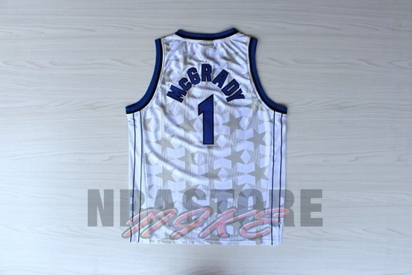 Maglia NBA Orlando Magic NO.1 Tracy McGrady Bianco Scuro