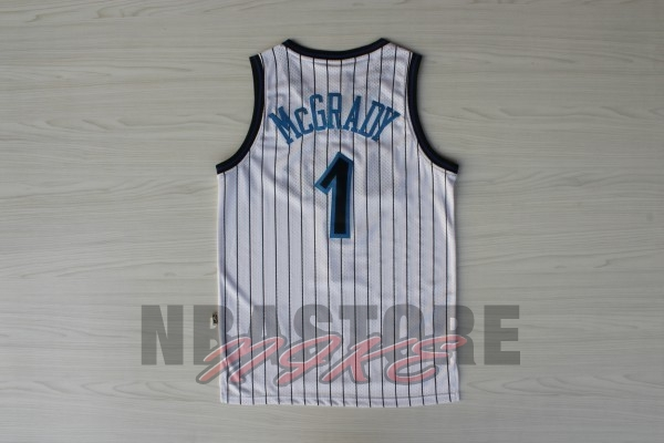 Maglia NBA Orlando Magic NO.1 Tracy McGrady Bianco