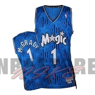 Maglia NBA Orlando Magic NO.1 Tracy McGrady Blu Scuro