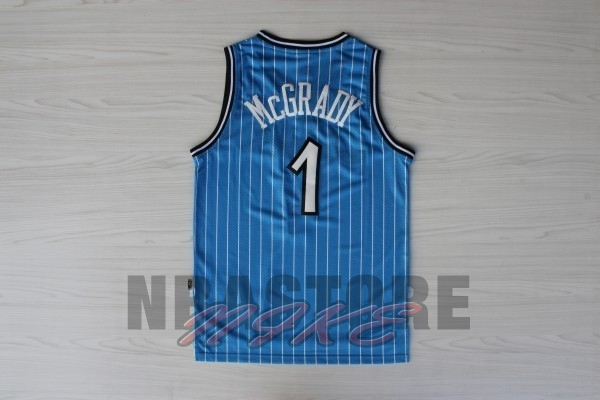 Maglia NBA Orlando Magic NO.1 Tracy McGrady Blu