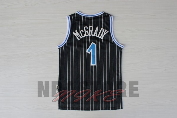 Maglia NBA Orlando Magic NO.1 Tracy McGrady Nero