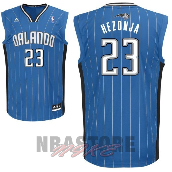 Maglia NBA Orlando Magic NO.23 Mario Hezonja Blu