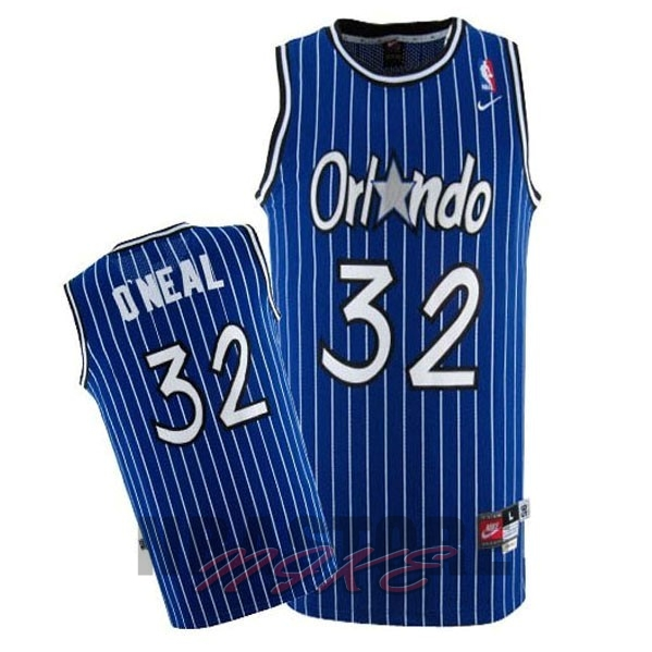 Maglia NBA Orlando Magic NO.32 Shaquille O'Neal Blu