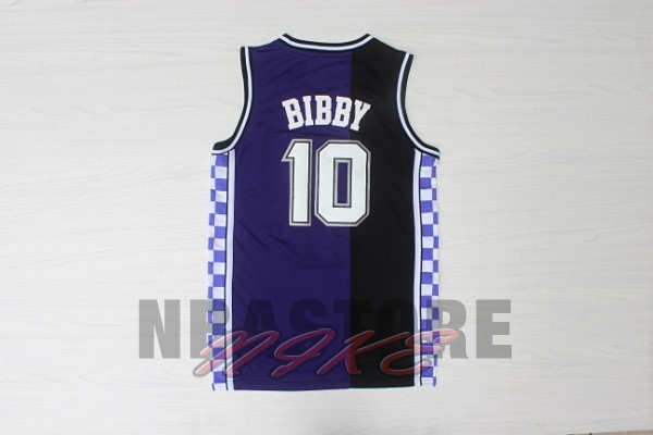 Maglia NBA Sacramento Kings NO.10 Mike Bibby Retro Blu