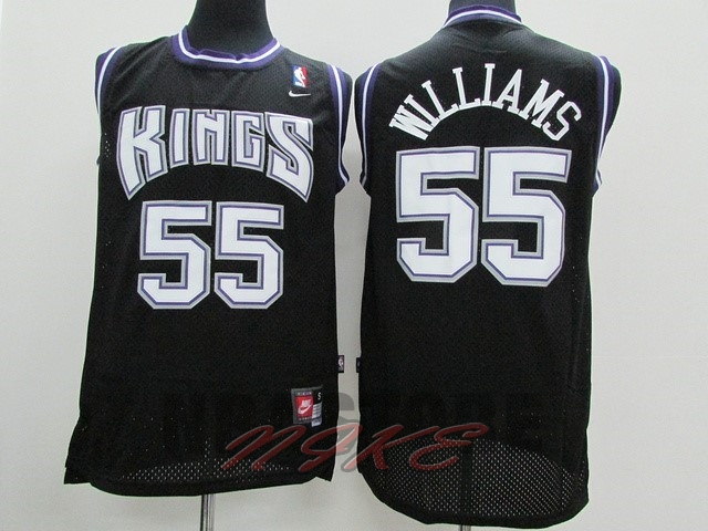 Maglia NBA Sacramento Kings NO.55 Jason Williams Nero