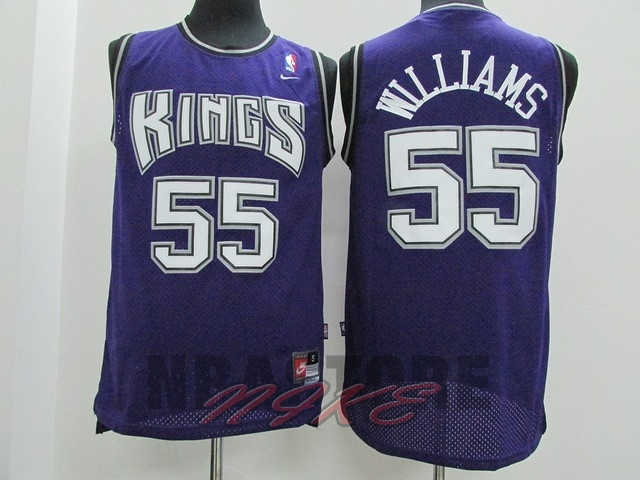 Maglia NBA Sacramento Kings NO.55 Jason Williams Porpora