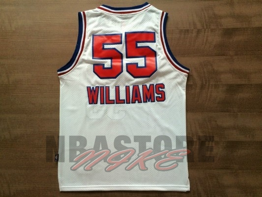 Maglia NBA Sacramento Kings NO.55 Jason Williams Retro Bianco