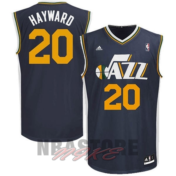 Maglia NBA Utah Jazz NO.20 Gordon Hayward Blu