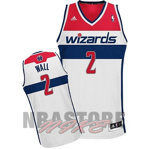 Maglia NBA Washington Wizards NO.2 John Wall Bianco