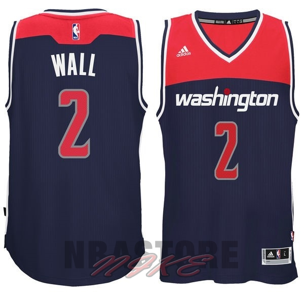 Maglia NBA Washington Wizards NO.2 John Wall Nero