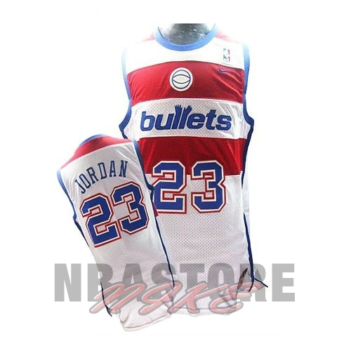 Maglia NBA Washington Wizards NO.23 Michael Jordan Retro Bianco