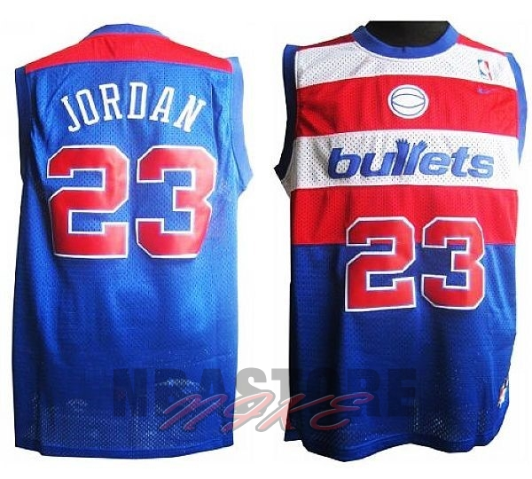 Maglia NBA Washington Wizards NO.23 Michael Jordan Retro Blu