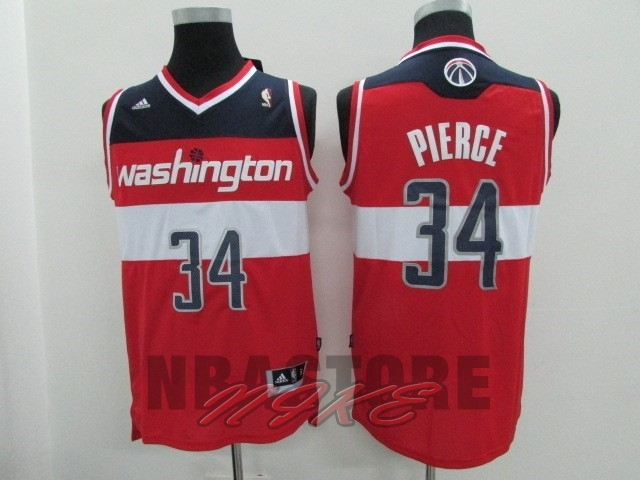 Maglia NBA Washington Wizards NO.34 Paul Pierce Rosso
