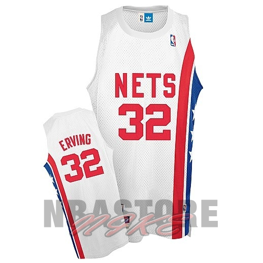 Maillo ABA Brooklyn Nets NO.32 Erving Bianco