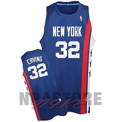 Maillo ABA Brooklyn Nets NO.32 Erving Blu