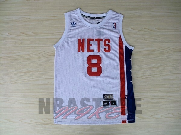 Maillo ABA Brooklyn Nets NO.8 Willams Bianco