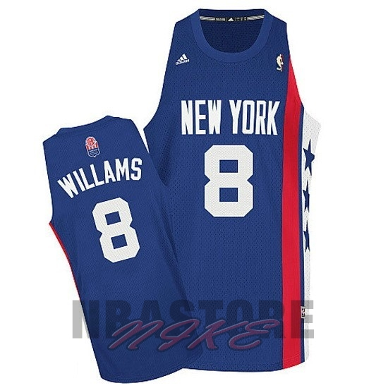 Maillo ABA Brooklyn Nets NO.8 Willams Blu