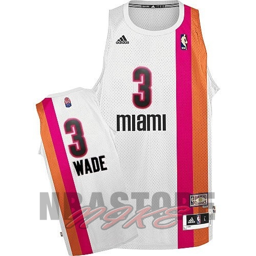 Maillo ABA Miami Heat NO.3 Wade Bianco