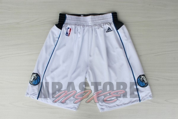 Pantaloni Basket Dallas Mavericks Bianco
