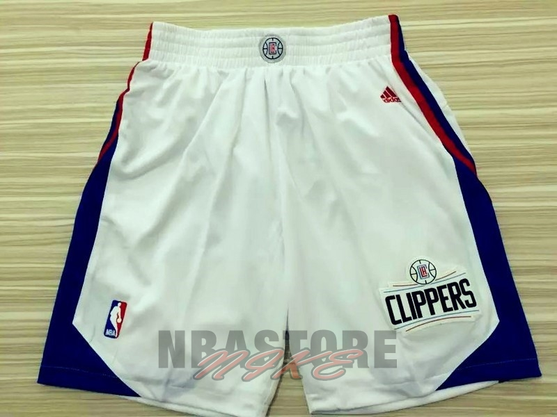 Pantaloni Basket Los Angeles Clippers Bianco