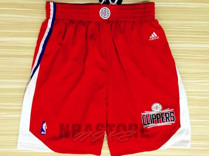 Pantaloni Basket Los Angeles Clippers Rosso