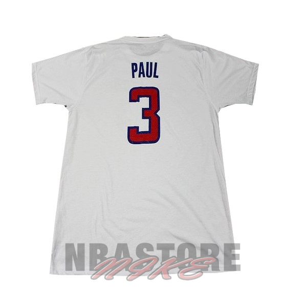 Maglia NBA Los Angeles Clippers Manica Corta NO.3 Paul Bianco