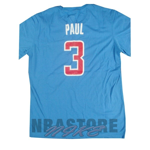 Maglia NBA Los Angeles Clippers Manica Corta NO.3 Paul Blu